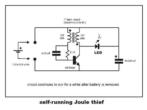 thief circuit diagram joule thief circuit diagram circuit and schematics diagram