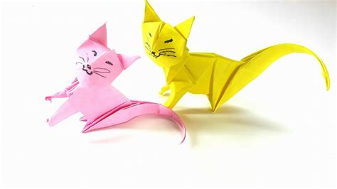 origami tutorial how to fold an easy origami neko cat