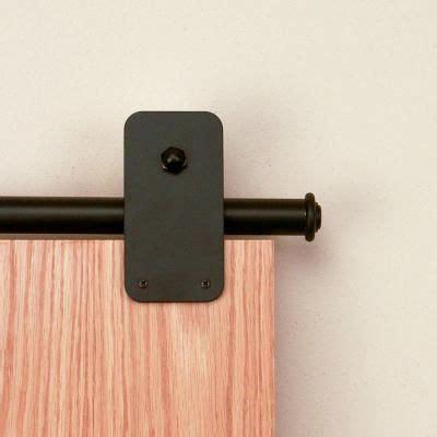 quiet glide   basic rectangle black sliding barn door