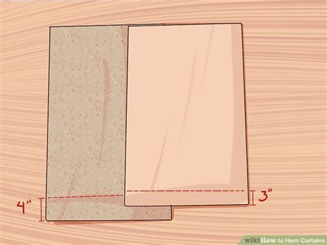 hemming curtains 3 ways to hem curtains wikihow