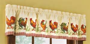Chicken Kitchen Curtains Rooster Kitchen Curtains Shop Everything Log Homes