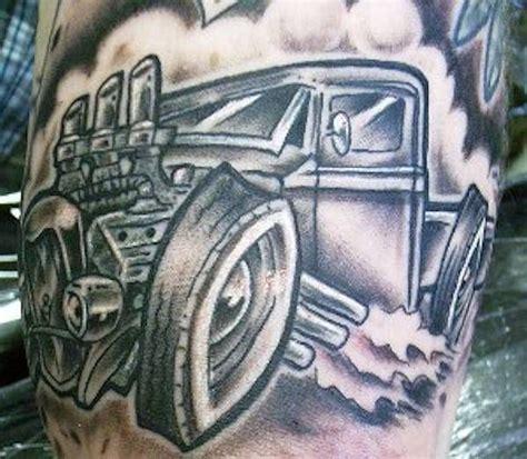 rat rod tattoos designs rod car and truck 03 automotive tattoos