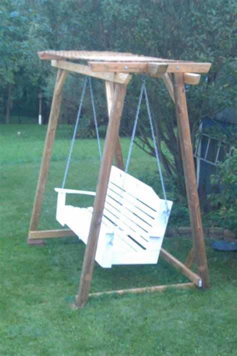 free standing bench swing free standing bench swing easy diy tutorial build install