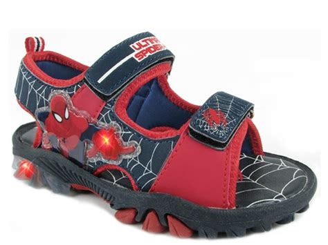Spiderman Light Up Shoes Spiderman Light Up Sandal Kids Amp Toys