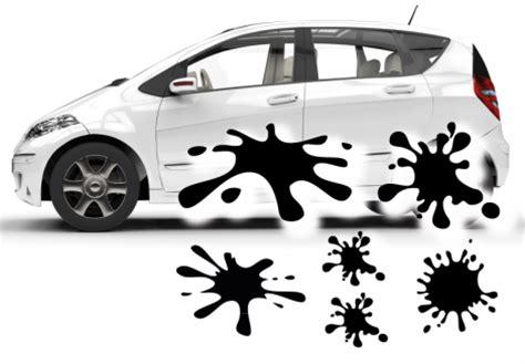 Aufkleber Auto Kleben by Splash Auto Aufkleber Set Klebe X