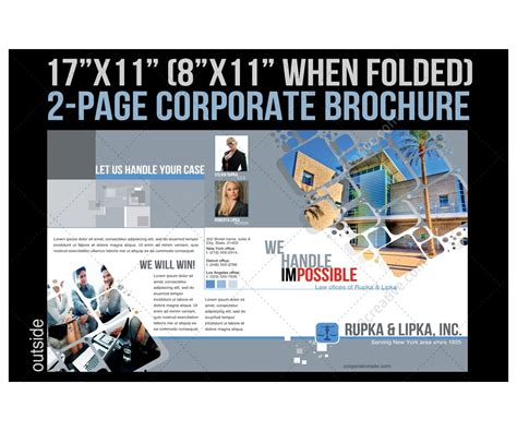 2 Pages Corporate Brochure Template For Construction Industry Architecture Planning Pages Flyer Templates