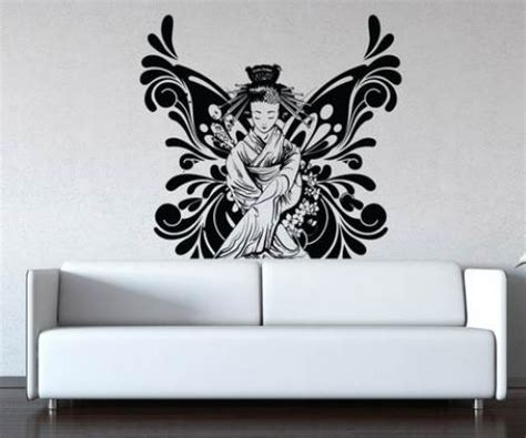 asian wall stickers asian wall stickers butterfly geisha wall decal