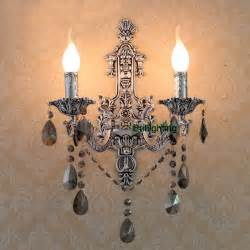 Led Wall Sconce Indoor Antique Silver Wall Sconces Vintage Crystal Wall Lights