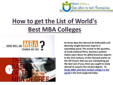 How To Obtain An Mba by Find Out The List Of Top Mba Colleges In The World