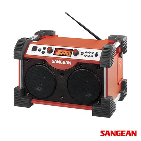 rugged fm radio fatbox fm am aux in ultra rugged radio sangean modernoutlet