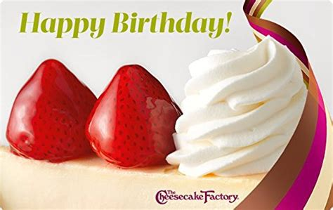 The Cheesecake Factory Gift Card Balance - the cheesecake factory birthday strawberry cheesecake gift cards e mail delivery