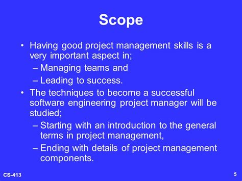 How To Become A Software Manager With An Mba by Software Engineering Project Management Cs 413 Ppt
