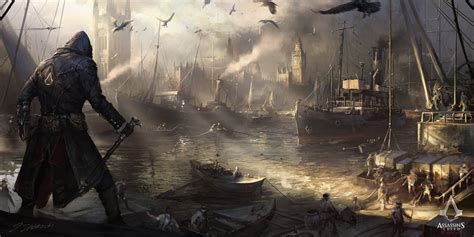 assassins creed syndicate thames river 1868 wallpaper assassin s creed syndicate westminster river by daroz on