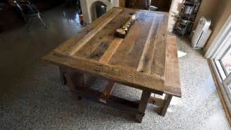 Reclaimed Dining Room Table by Solid Oak Reclaimed Barn Wood Dining Room Table