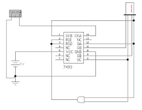 7493 ic pin diagram 7493 comet 3 light ceiling spotlight bar images frompo
