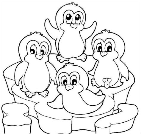 simple penguin coloring page 9 cartoon coloring pages jpg ai illustrator download