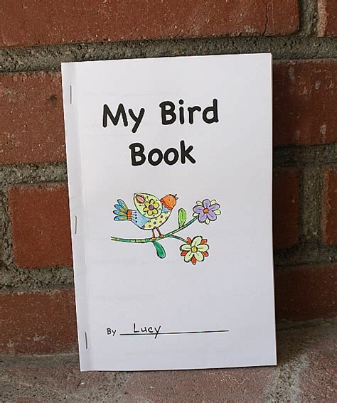 free printable bird book for birding with kids buggy and
