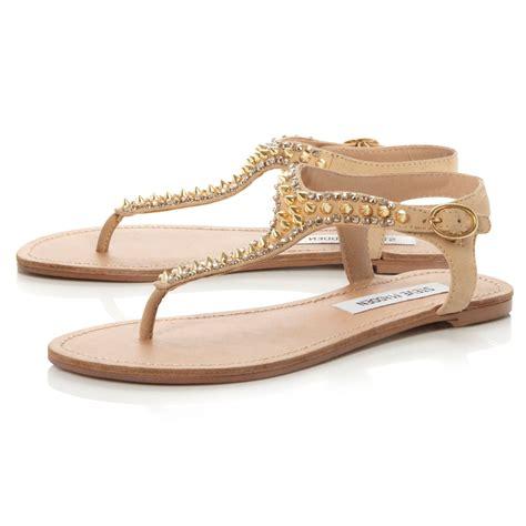 steve madden studded sandals steve madden beyyond studded toe sandals in brown lyst