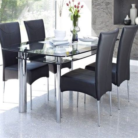 Black Glass Dining Room Table And Chairs 9 Best Images About Home Decor On Boats Black Chairs And Stainless Steel