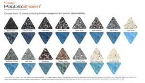pebble sheen colors pool designs