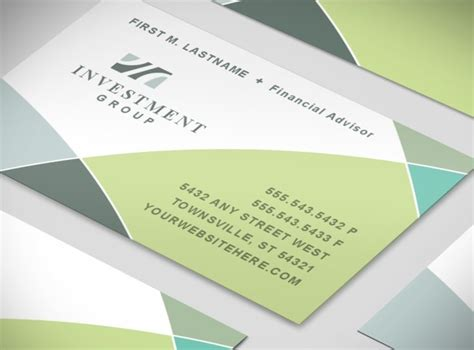 financial business card template financial services consulting practice business card