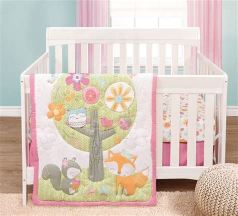 forest crib bedding garanimals forest fairytales 3 piece crib bedding set