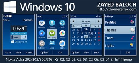 theme windows 10 nokia c3 windows 10 live theme for nokia asha 202 203 300 303 x3