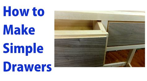 How To Make A Sliding Shelf by How To Make Simple Wooden Drawers Woodworkweb