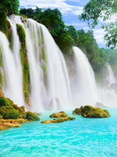 waterfalls river nature wallpaper