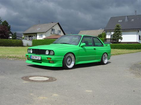 green bmw green bmw e30 m3 on 17 staggered bbs rs bbs rs zone