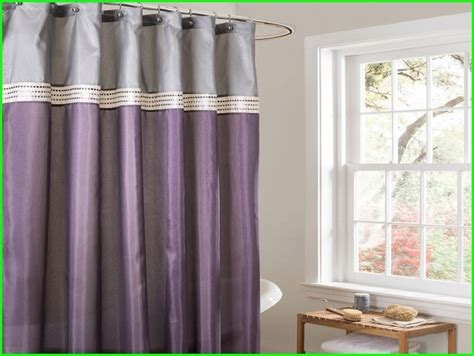 bathroom shower curtains luxury purple and gray