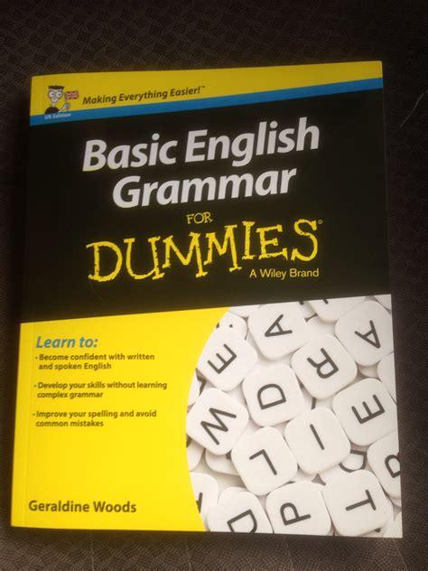 best basic grammar book basic grammar for dummies by geraldine woods new
