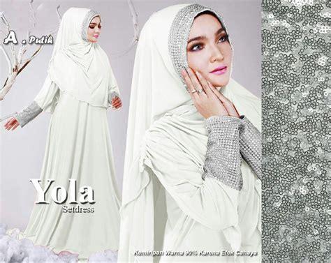 Gamis Wanita Warna Putih jual baju muslim dan gamis putih terbaru kayamara jaya