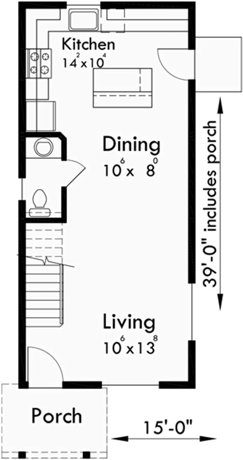 Narrow 2 Story House Plans by Narrow Lot House Plans 2 Bedroom House Plans 2 Story