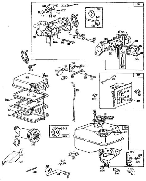 briggs and stratton 6 hp carburetor diagram 5hp briggs and stratton carburetor diagram briggs and