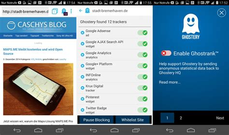 ghostery android ghostery privacy browser f 252 r android ver 246 ffentlicht