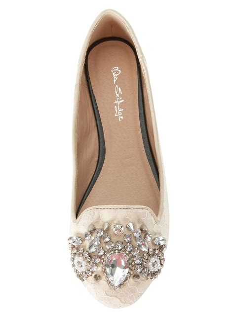 Flat Embellished Wedding Shoes by Lover Lace Embellished Flat Shoes Flat Shoes