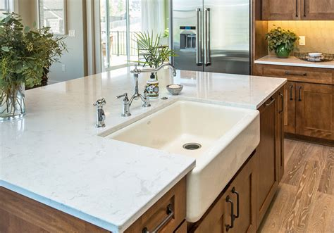 decorating white cambria torquay countertop with single