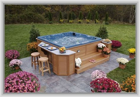 backyard hot tub design ideas outdoor patio ideas with outdoor patio ideas with hot tub