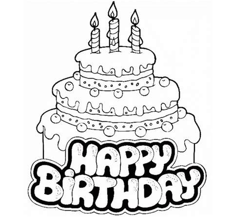 happy birthday cake  kid coloring drawing