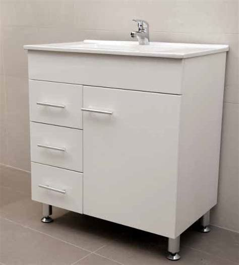 Metal Leg Bathroom Vanity Artemis Wpl750li 750mm Ivory Color Polyurethane Bathroom Vanity Unit With White Ceramic Basin On