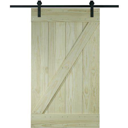32 X 80 Barn Door by Wood Barn Door Kit 32 Quot X 80 Quot Unfinished Pine Z Design