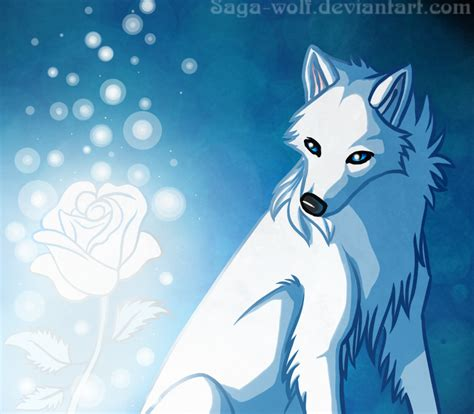 black and white anime wolves 3 background wallpaper ice rose by haunthid on deviantart