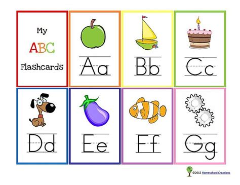 printable flash cards 13 sets of free printable alphabet flash cards for