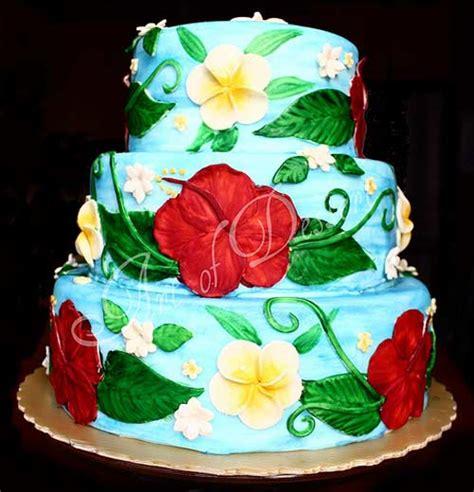 luau wedding cakes tropical hawaiian theme cake designs