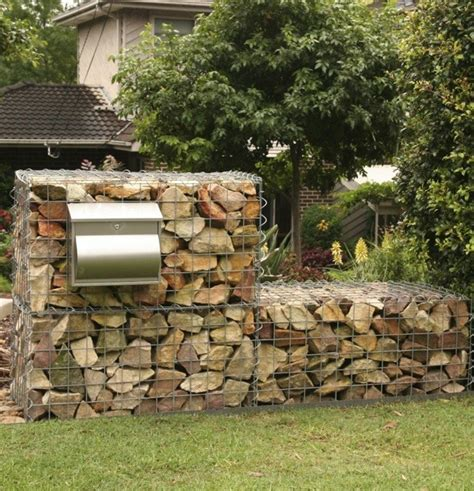 How To Build A Gabion Wall Gardendrum Building Garden Wall