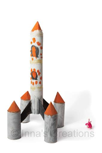 How To Make A Spaceship With Paper - inna s creations make a space rocket from toilet