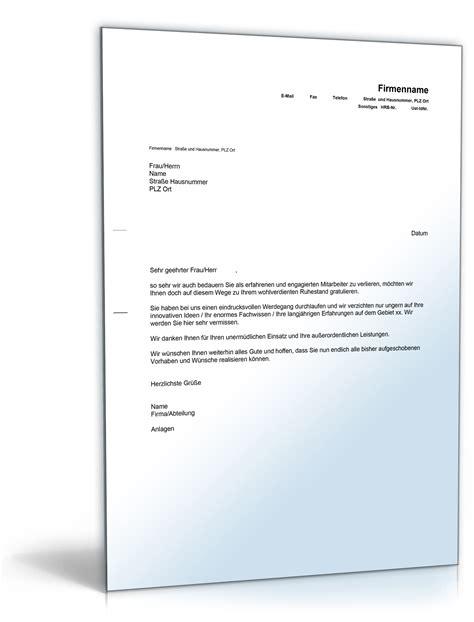 Formaler Brief Englisch Verabschiedung Gl 252 Ckwunsch Zum Ruhestand Englisch