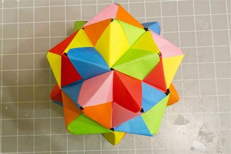 Make Paper - modular origami how to make a cube octahedron