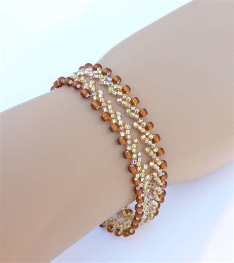 bead bracelet beadweaving bracelet beaded bracelet seed bracelet